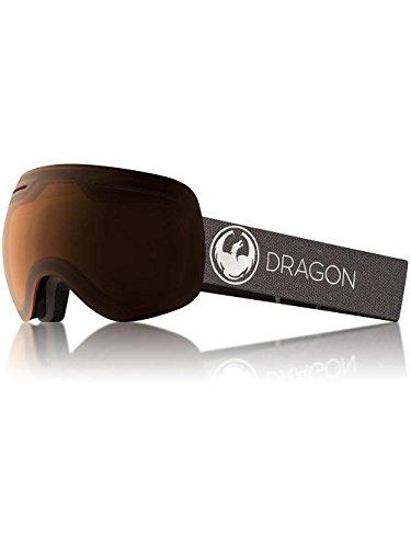 Dragon Alliance X1 Ski Goggles, Black, Large, Echo/Transition Amber Lens