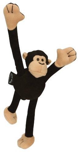 Quaker goDog Crazy Tugz Monkey Tough Plush Dog Toy with C...