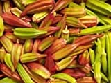 10 Seeds Hill Country Red Okra , Bhindi , Gumbo , Abelmoschus Esculentus, Texas Heirloom!