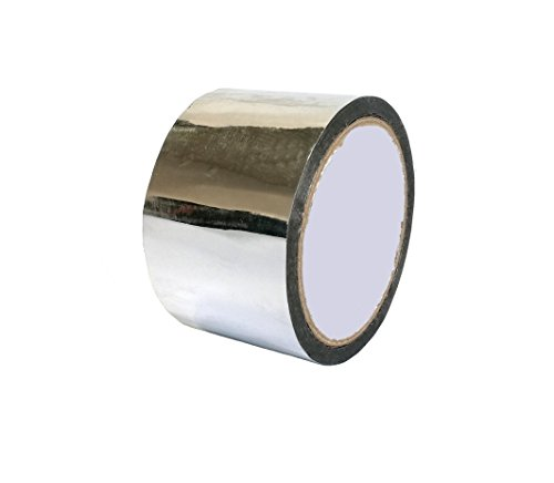 (Metallic Tape Mirror Tape Duct Tape DIY Decorative Tapes, 2.4 Inches x 55 Yards (Silver))