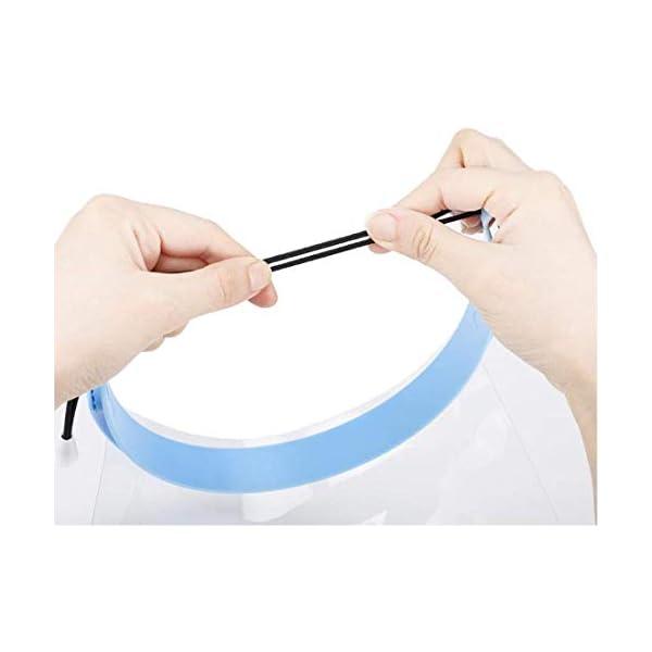 Dental Disposbale Detachable Face Shield Blue 10pcs of protective plastic foil