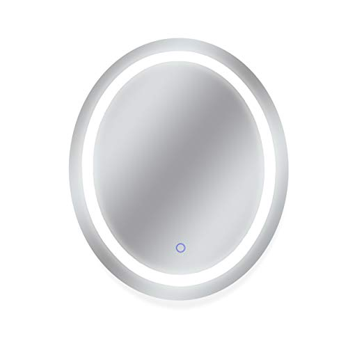 Dyconn Faucet Edison Tri-Color Oval Round Wall Mounted Backlit LED Bathroom Vanity -