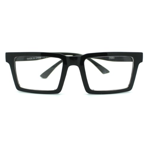 Square Rectangular Frame Clear Lens Eye Glasses - Eyeglass Frames Square Black