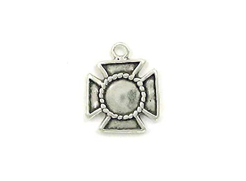 Sterling Silver Maltese Cross Charm for Necklace or Earrings for Jewelry Making Bracelet Necklace DIY Crafts