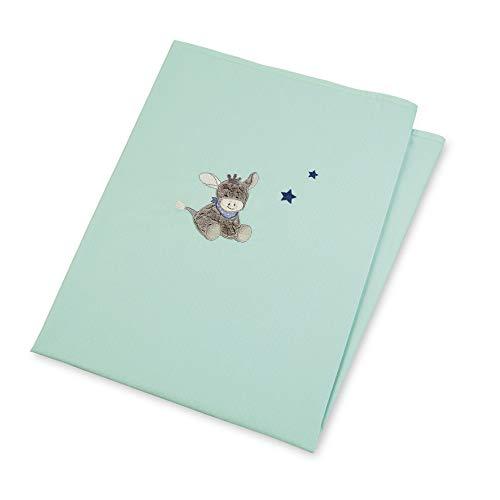 Sterntaler UV-Decke Esel Emmi, Alter: Für Babys ab der Geburt, 70 x 100 cm, Türkis