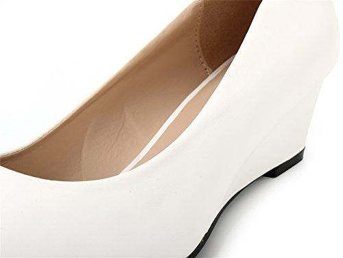 con Scarpe Bianco on Donna Donna Zeppe AgeeMi Shoes Tacco col Ballerina Slip FzIw7fq
