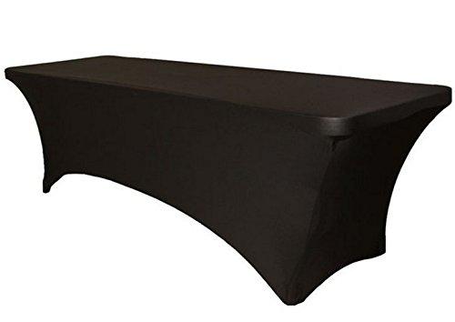 Bella Vita * tischhussen Stretch Beautissu–Tavolino tondo, ware Presentazione da sagra mercato delle pulci hussen panche per matrimonio 183*76*74cm nero S.D. Maket