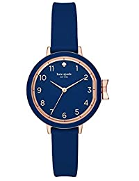 Women's Park Row Silicone Stainless Steel Japanese-Quartz Watch with Strap, Blue, 12 (Model: KSW1353)