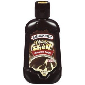Smucker's Magic Shell Ice Cream Topping, Chocolate Fudge, 7.25-ounce Bottles (Pack of 4) by Smucker's