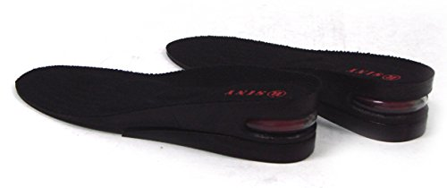 SINY® 2-Layer (5cm) Height Increase Taller Shoe Insoles Pad Air Cushion for Women Black by siny (Image #2)