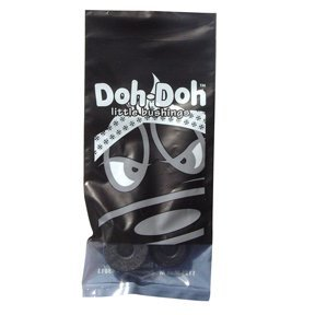 (Shorty's Black Doh-Doh Bushings 100a Rock Hard (1 Sets) For Skateboards & Longboards)