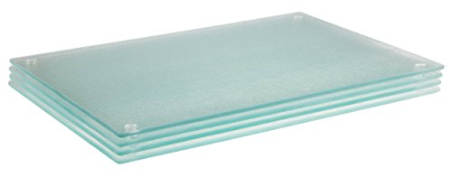 Glass Cutting Board Set by Clever Chef | 4 Non Slip Cutting Boards 8