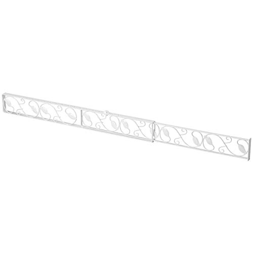 U.S. Patrol ZB8095WHI White Sliding Door Lock BAR,