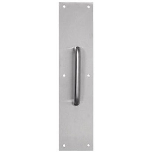 Tell Manufacturing DT100067 CTC Pull Plate, 55' Satin Stainless Steel, 35' x 15' 55 Satin Stainless Steel 35 x 15 Inc.