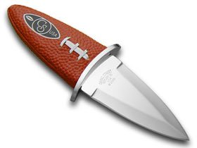 """CANAL STREET CUTLERY CO """"Carry the Football"""" Leather Knife Knives"""