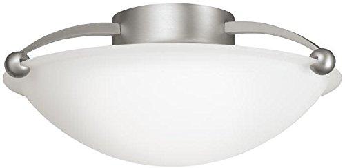 Lighting Kichler Flush (Kichler 8405NI Semi-Flush 2-Light, Brushed Nickel)