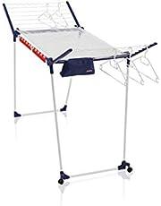 Leifheit Standtrockner Pegasus 200 Solid Deluxe Mobile mit 20 m Trockenlänge, Wäscheständer für lange Wäsche, Flügelwäschetrockner mit Bügelstangen