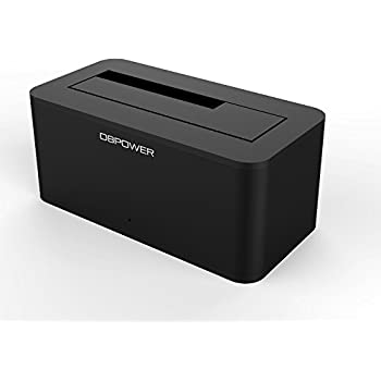 DBPOWER Hard Drive Docking Station with USB 3.0 Supports SATA 2.5 or 3.5in HDD or SSD,Support UASP-Blac