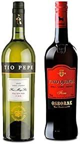 Vino palomino Fino Tío Pepe de 75 cl y Vino Fino Quinta de 75 cl - Mezclanza Exclusiva