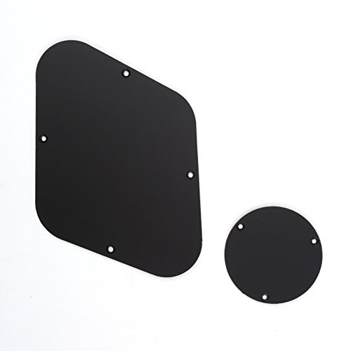 Musiclily Pickguard Backplate Cavity and Switch Cover Set for Gibson Les Paul Guitar,1Ply Matte Black