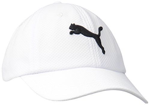 PUMA Women's Enola Relaxed Mesh Cap, White/Black, One Size