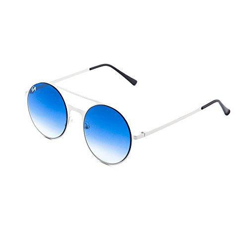 mujer degradadas TWIG FRIDA Degradado de sol Plata espejo Azul Gafas xwS6Yfq4