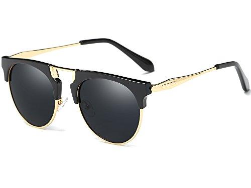27528c9703 Joopin Semi Rimless Polarized Sunglasses Women Men Retro Brand Sun Glasses