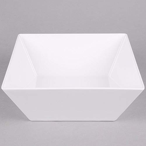 American Metalcraft MELSQ117 Endurance Bowl 228 Ounce, White Square Melamine Bowls (Case of ()
