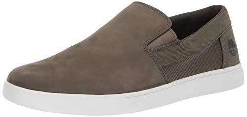 Nubuck Green (Timberland Men's Groveton Slip On Sneaker Dark Green Nubuck 9.5 Medium US)