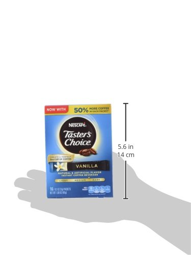 Nescafe Taster's Choice Instant Coffee Beverage, Vanilla, Net Wt. 1.69 Ounce (Pack of 8)