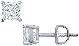 Platinum Princess Cut Diamond Stud Earrings 1.25 CT. TW.