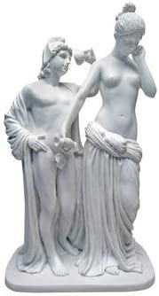 Greek Mythology Hebe Cup Bearer to the Gods /& Ganymede Bonded Marble Statue