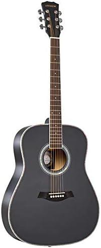 ギター アコースティックギター初心者41インチブラックソリッドウッドベニヤギター 初心者 入門 (Color : Black, Size : 41 inches)