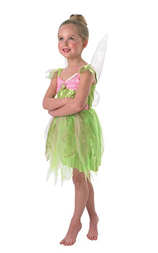 Small Girls Tinker Bell Dress With Light Up Wings Costume]()
