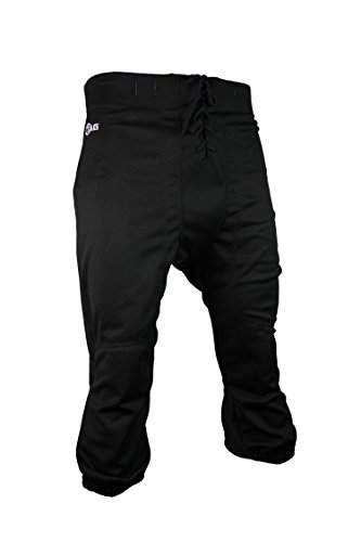 TAG Youth Slotted Football Pant Large (Black) Waist ()