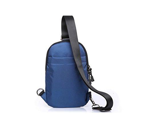 Otomoll Brust Pack Freizeit Sport Crossbody Reiten Schulter Tasche Treasure blue (put 7 inches IPAD) tRZ74vIzG