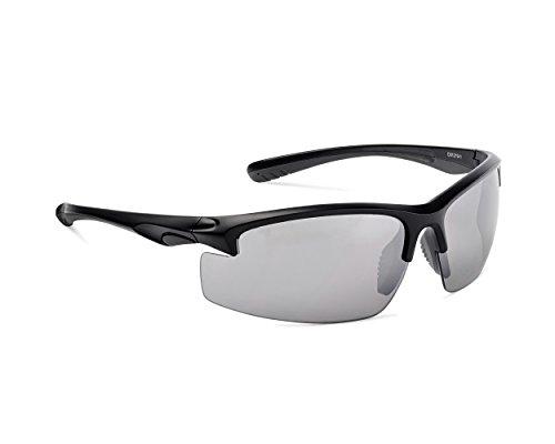 y nbsp;protección 400 deportivas de UV Gafas mat nbsp;Gafas grey mujer sol Protección hombre para black Dice nbsp;– negro rojo ERw8Bzxq7n