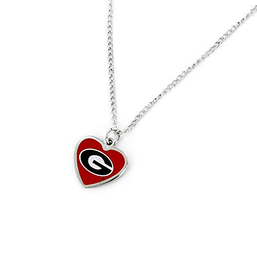aminco NCAA Georgia Bulldogs Heart Pendant