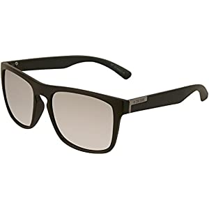 Zoo York Mens Retro Keyhole Rectangle Sunglasses One Size Black