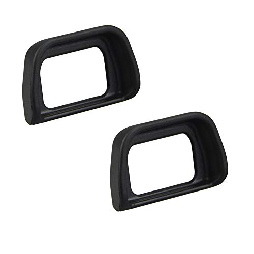 ([2 Pack] Hukado Eyepiece/Eyecup/Eye Cup Viewfinder Compatible with Sony Alpha A6300 A6000 NEX-6 NEX-7 Cameras, Replacement Sony FDA-EV2S and FDA-EP10 Replacement, Black)
