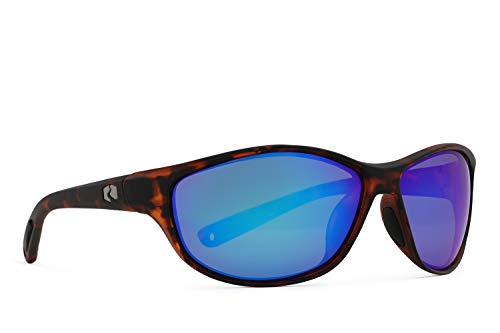 (Rheos Bahias Small Sport Style Floating Polarized Sunglasses | 100% UV Protection | Floatable Shades | Ideal for Fishing and Boating | Anti-Glare | Unisex | Tortoise | Marine)