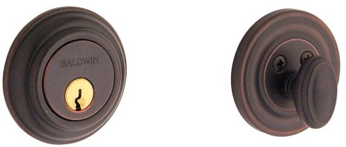 (Baldwin Estate 8231.412 Low Profile Traditional Single Cylinder Deadbolt in Distressed)
