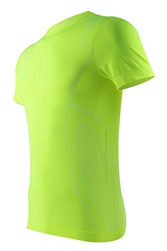 M-D Moisture-Wicking Short Sleeve T-Shirt Unisex Running Fitness Workout Base Layer Shirt L Green