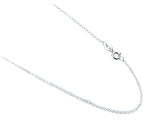1mm Cable Italian Chain. Sterling Silver .925 Rolo Style Thin Necklace. 14,16,18,20,24 Inches (18 Inches) (Chain Silver Tiny)