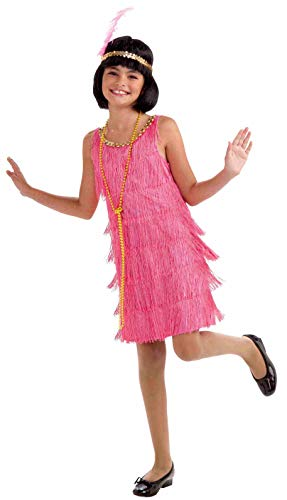 Forum Novelties Little Miss Flapper Child's Costume,Pink, ()