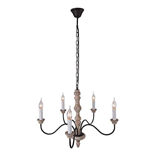 NOVO Light 5-Light Chandeliers Shades French Country Shabby Chic Rust for Dining ()