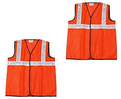 Ladwa Orange Work Wear Reflective Strips Jacket with High Visibility Safety (Pack of 2) Price & Reviews