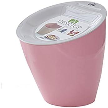 WGZ- 斜めの机のごみ箱ファッションクリエイティブの収納桶ホームリビングルームミニゴミ箱 耐久性 (Color : Pink)