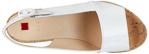 Högl 3-10 3204, Sandali con Piattaforma Donna Bianco (Weiss0200)