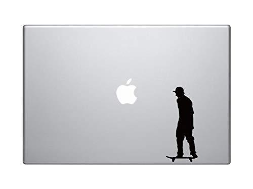 BYRON HOYLE Skateboard Trick #3- Skate Shop Art Flatland Rider Goofy - MacBook Vinyl Sticker Decal Mac Apple Laptop iPad